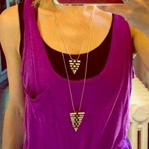 Banana Republic 2-tiered arrow necklace